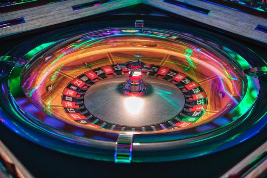 light up roulette wheel spinning