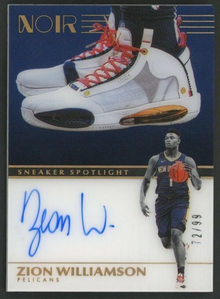 Panini Noir Zion Williamson Sneaker Spotlight